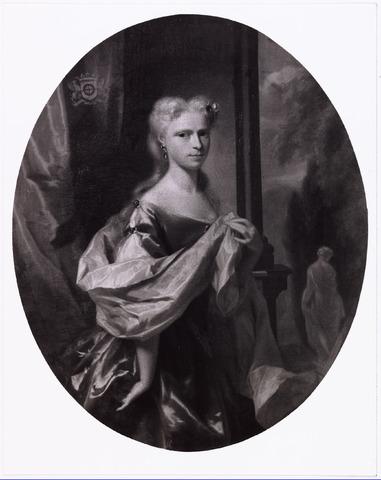 008288 - Schilderij. Mogelijk Geertuyd Petronella Margaretha des H.R.R. gravin van Hogendorp dochter van Mr Gijsbert gehuwd Margaretha Catharina Beck geboren 1711 gestorven 1733. Ongehuwd.