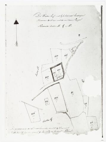 007045 - Kaart. Kadasterkaart van de Waterhoef en bijbehorende landerijen.