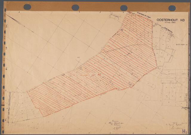 104775 - Kadasterkaart. Kadasterkaart Oosterhout Sectie H3, Schaal 1: 2.500