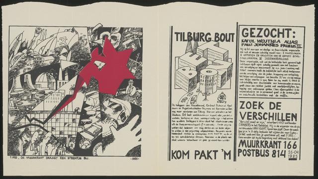 668_1985_166 - Muurkrant: Tilburg bout