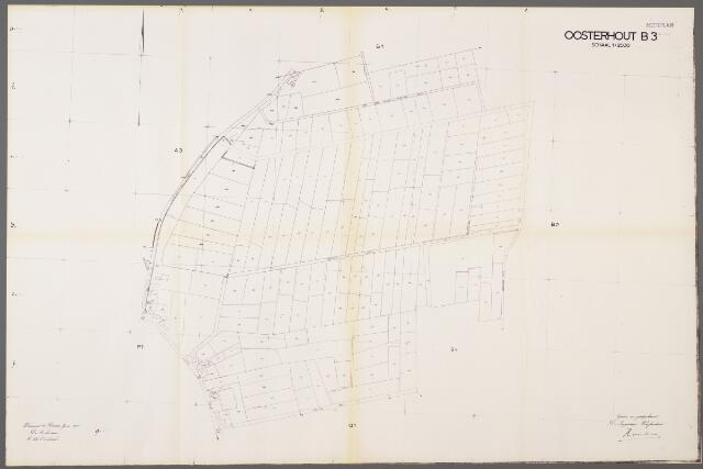 104993 - Kadasterkaart. Kadasterkaart / Netplan Oosterhout. Sectie B3. Schaal 1: 2.500.