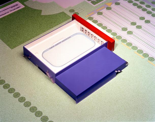 D-001017-1 - Maquette IJssporthal Stappegoor (Architectenbureau Bollen)