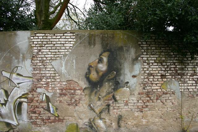 656581 - Straatbeeld Tilburg 2005. Graffiti.