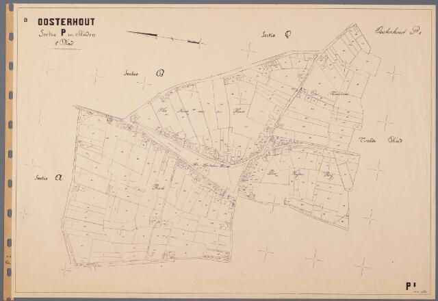 104861 - Kadasterkaart. Kadasterkaart Oosterhout Sectie P1, Schaal 1 : 2.500