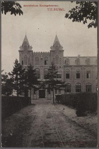 010964 - Hoofdingang van het klooster en retraitehuis van O.L.V. van het Cenakel aan de Koningshoeven, thans Kempenbaan.