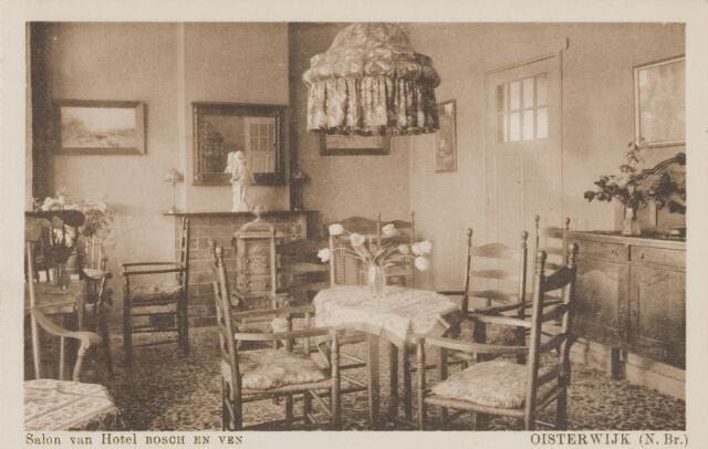 """074153 - De bar van hotel """"Bosch en Ven"""" (Bos en Ven) aan het Klompven."""