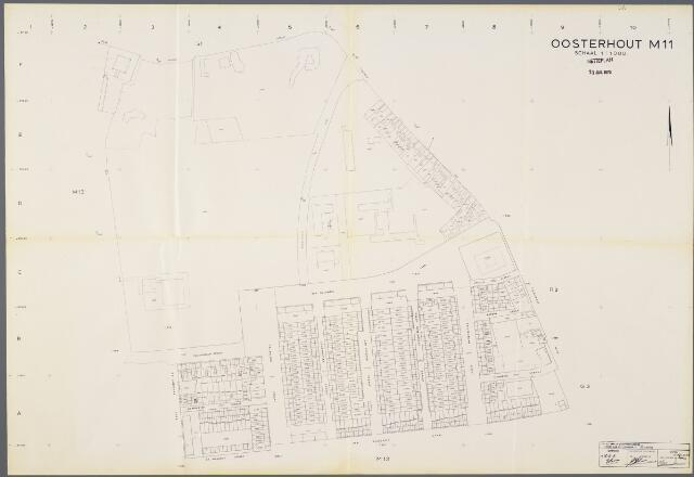 104940 - Kadasterkaart. Kadasterkaart / Netplan Oosterhout. Sectie M11. Schaal 1: 1000.