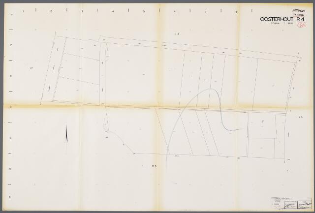 104920 - Kadasterkaart. Kadasterkaart / Netplan Oosterhout. Sectie R4. Schaal 1: 1000.
