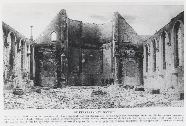 055457 - R.K. Laurentiuskerk na de brand op 9 mei 1917.