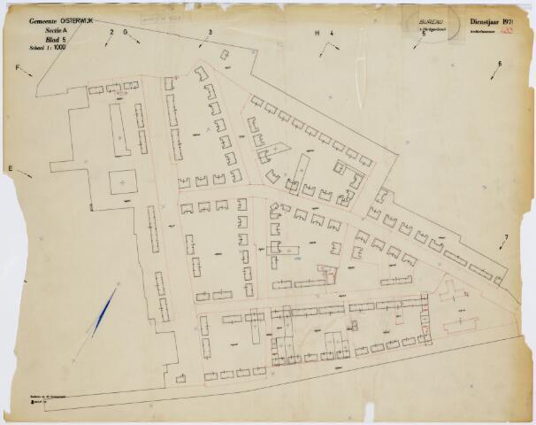 A433 - Kadasterkaart. Kadasterkaart Oisterwijk, sectie A, blad 5. Kerkhoven.