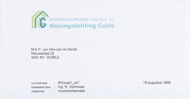 056382 - Briefhoofd. Briefhoofd van de Woningstichting Goirle