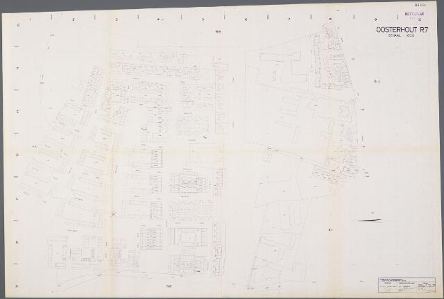 104927 - Kadasterkaart. Kadasterkaart / Netplan Oosterhout. Sectie R7. Schaal 1: 1000.