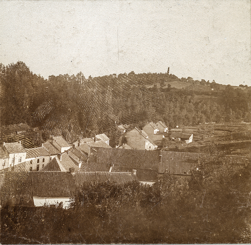 653524 - Uitzicht over Valkenburg. (Origineel is een stereofoto.)