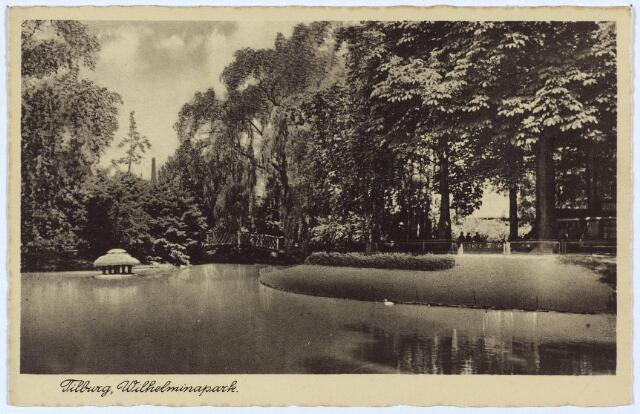 002946 - Wilhelminapark, vijver en brug.