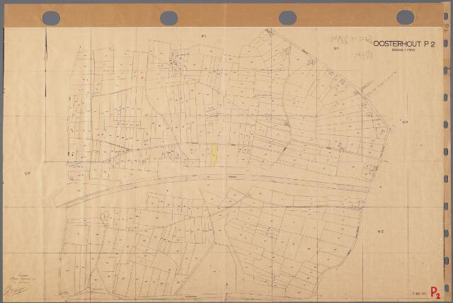 104865 - Kadasterkaart. Kadasterkaart Oosterhout Sectie P2, Schaal 1 : 2.500