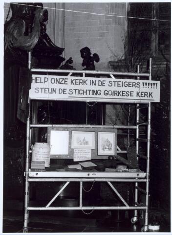 019671 - Oproep tot financiële steun ten behoeve van de restauratie van de Goirkese kerk in 1985