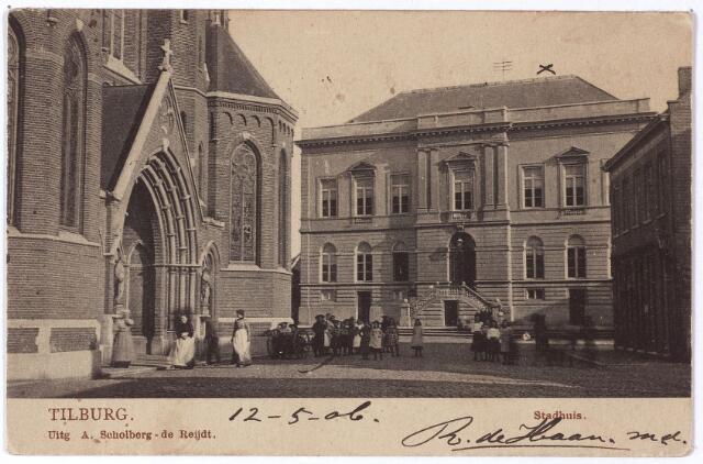 002323 - Kerk van St. Dionysius (Heike) en voormalig gemeentehuis.