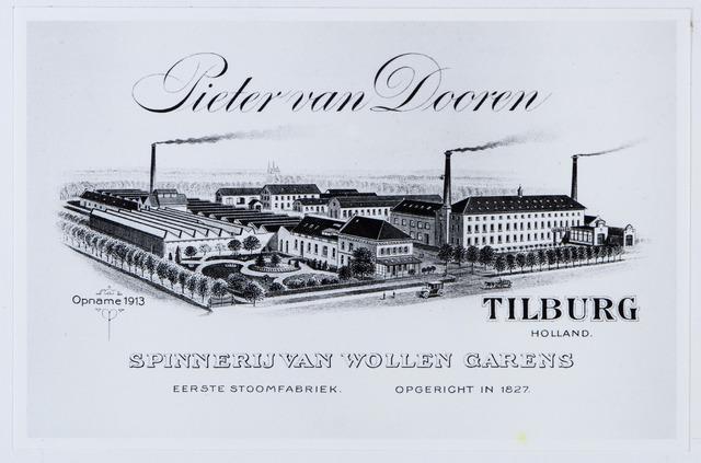 059956 - Briefhoofd. Briefhoofd van Pieter van Dooren, Spinnerij van Wollen garens voor tapijten