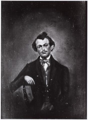 008201 - Schilderij. Ludovicus Hubertus Broekhans, echtgenoot van Theresia Christina Donders, geboren Tilburg 19 februari 1838, overleden Tilburg 18 januari 1894.