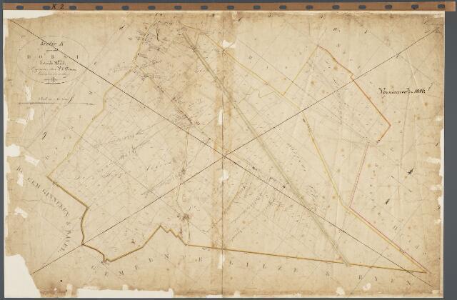 104792 - Kadasterkaart. Kadasterkaart  Oosterhout Sectie K2, Schaal 1 : 2.500, genaamd Dorst
