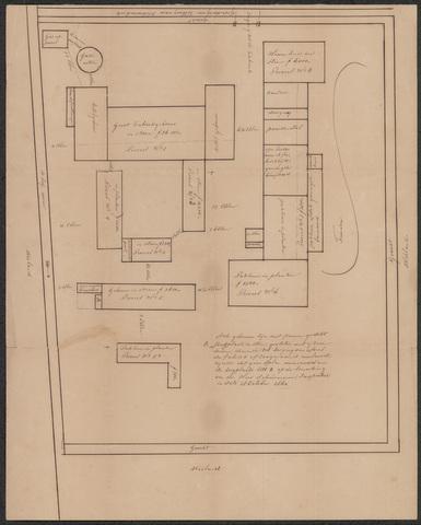 652507 - Kaart van het complex van Pieter van Dooren.