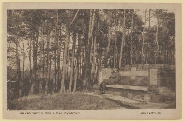 075209 - Serie ansichten over de Oisterwijkse Vennen.  Ven: Kolkven (gedenkbank)