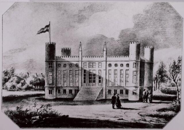 032087 - Aquarel. Paleis koning Willem II aan het Stadhuisplein