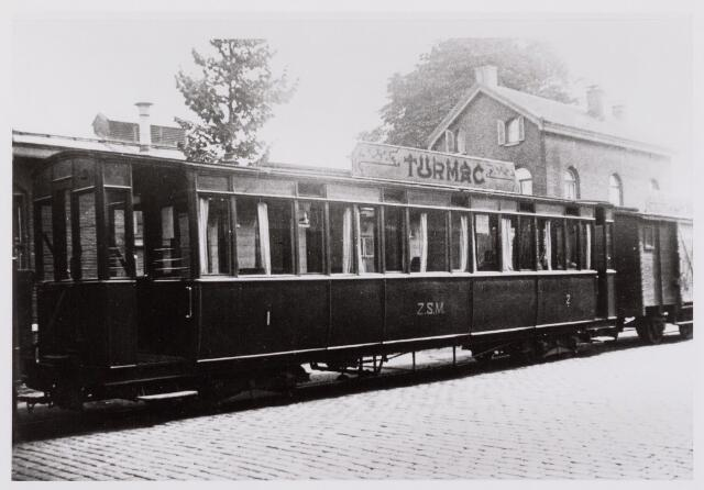 041480 - Openbaar vervoer. Hollandse Buurtspoorwegen.rijtuig AB 23, Tilburg, station 1934.