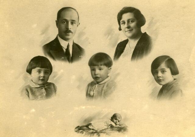 071377 - Portret onbekend gezin (collage) (Eerder werd deze foto foutief beschreven: Vincentius Joannes Paulus Maria van Loon)