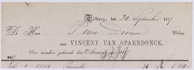 061154 - Briefhoofd. Nota van Vincent van Spaendonck voor P. van Dooren te Tilburg