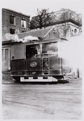 041487 - Openbaar vervoer. Hollandse Buurtspoorwegen. loc. 8, Tilburg Spoorlaan, 1934.
