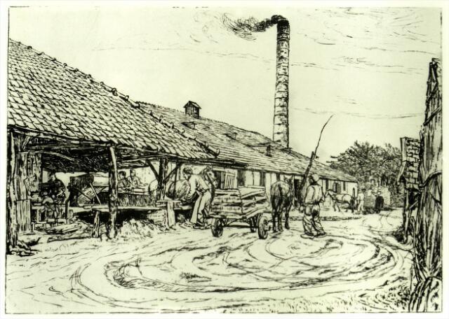 054642 - Ets door Andres Schotel. Steenfabriek te Esbeek.