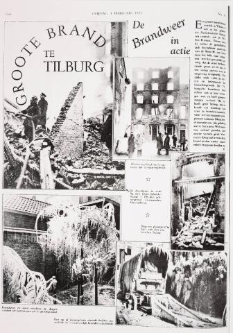 035202 - Brand: op 25 januari 1933 brande het meelfabriek Van Loon Meelfabriek aan de Willem IIstraat geheel af:  De Krantenkop van 1 februari 1933 over de brand