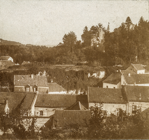 653523 - Uitzicht over Valkenburg. (Origineel is een stereofoto.)