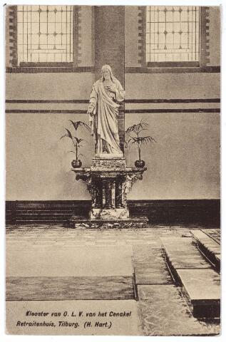 001406 - H. Hartbeeld in het retraitehuis en Klooster van O. L. V. van het Cenakel aan de Koningshoeven, nu Kempenbaan.