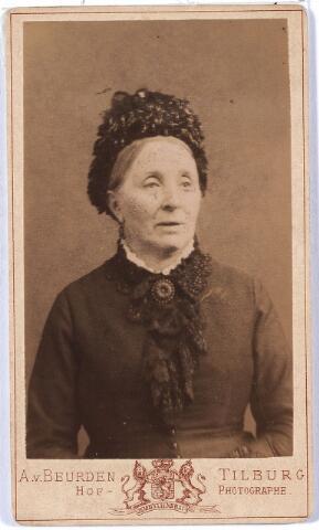006003 - Maria Theresia Janssen, geboren te Tilburg 19 februari 1826, overleden aldaar 5 juli 1885, gehuwd met Jos.A. Verbunt.