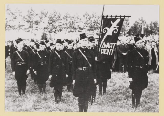 077296 - Arnold Meijer leider Zwart Front, van1934 -1941.  Landdag1937.  Terrein naast Weyenberg (gemullehoekenweg).  Stormcommandanten Zwart Front
