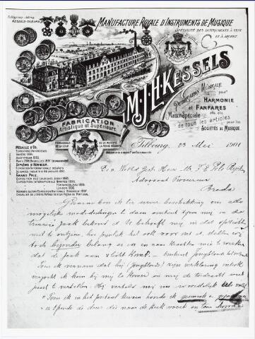 007189 - Briefhoofd. Briefhoofd van de muziekinstrumenten-fabriek Kessels.