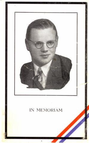 604351 - Tweede Wereldoorlog. Oorlogsslachtoffers. Wilhelmus A. Baeten (1915-1945).