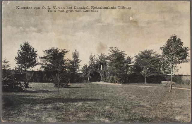 010435 - Tuin en Lourdesgrot van het retraitehuis en klooster van O.L.V. van het Cenakel aan de Koningshoeven, thans Kempenbaan.