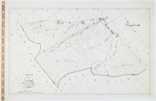 104808 - Kadasterkaart. Kadasterkaart  Oosterhout Sectie K3, Schaal 1 : 2.500, genaamd Dorst