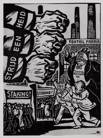 040875 - Vakbeweging. Textielstaking 1935. Pamfletten, Annonces, mededelingen in de Fakkel het orgaan van het nationaal arbeidssecretariaat, de textielarbeidersbond, de vereniging van Textielfabriekanten, inzake de staking van textielarbeiders op 13 september 1935.