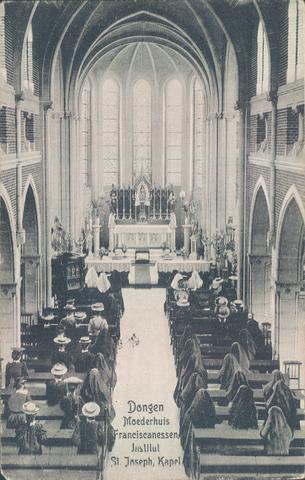 651884 - Moederhuis Franciscanessen, Instituut St. Joseph, Dongen. Interieur  van de kapel.