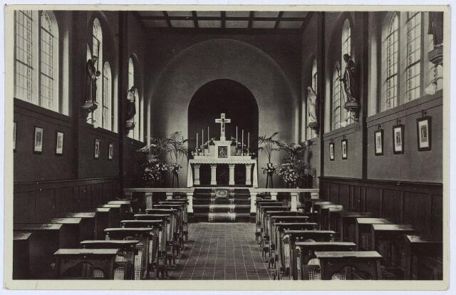 002793 - Noordzijde Wilhelminapark, interieur van de kapel van het St. Franciscuspension  van de zusters franciscanessen van de HH. Familie aan het Wilhelminapark nr. 114.
