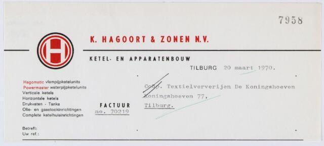 060226 - Briefhoofd. Nota van Firma K. Hagoort & Zonen, stoomketelmakerij en contructiewerkplaats voor Coöp. Ververijen, Koningshoeven 77