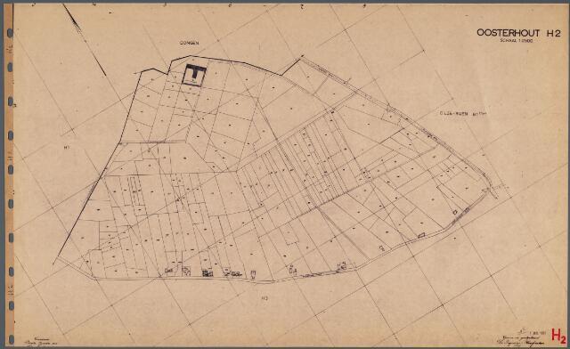104773 - Kadasterkaart. Kadasterkaart Oosterhout Sectie H2, Schaal 1: 2.500