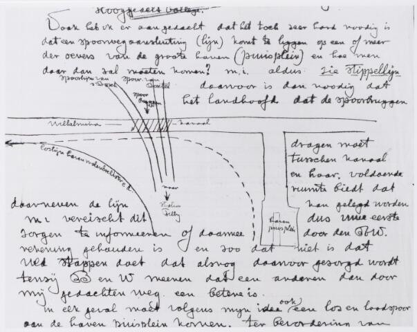 045290 - Brief van bouwkundig aannemer C.J.M. Kocken aan het college van B en W te Tilburg over de mogelijke goederenspoorwegaansluiting van het station met de Piushaven.