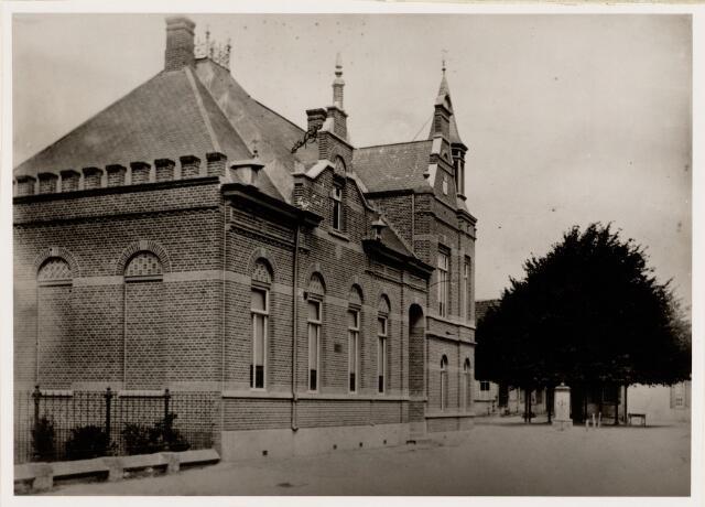 065214 - Raadhuis/Gemeentehuis met lindeboom en pomp