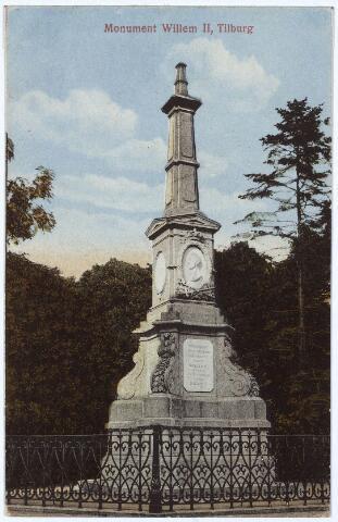 002511 - Gedenknaald voor koning Willem II op de hoek Monumentstraat-Paleisstraat.