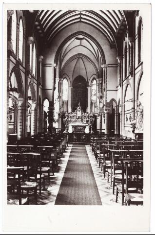 001403 - Interieur kapel retraitehuis en klooster van  O. L. V. van het Cenakel aan de Koningshoeven, nu Kempenbaan.